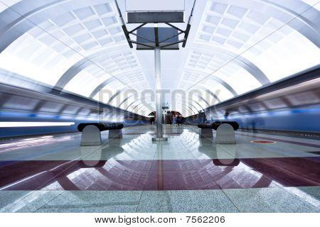 Two Trains On Platform
