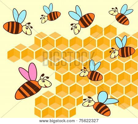 Beehive And Honeycomb