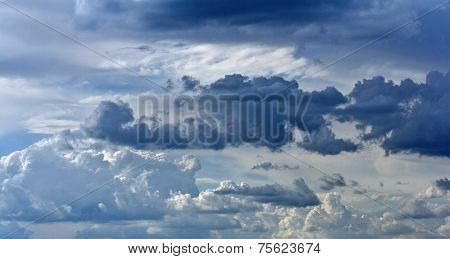 Blue Sky With Rain Clouds As Background