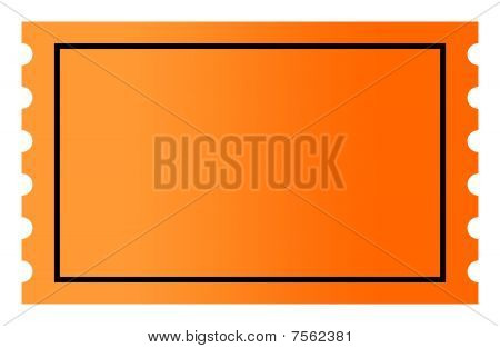 Blank Orange Ticket