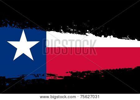 Texas Flag Splash