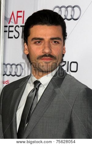 LOS ANGELES - NOV 6:  Oscar Isaac at the AFI FEST 2014 Screening Of