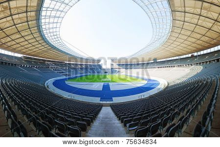 Olimpic Stadium Interior In Berlin, Germany