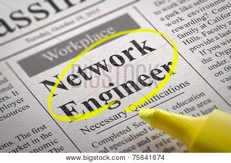 Network Engineer Vacancy in Newspaper.