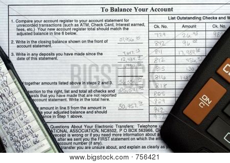 Hand Written Bank Reconciliation