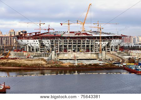 Football Stadium Being Built