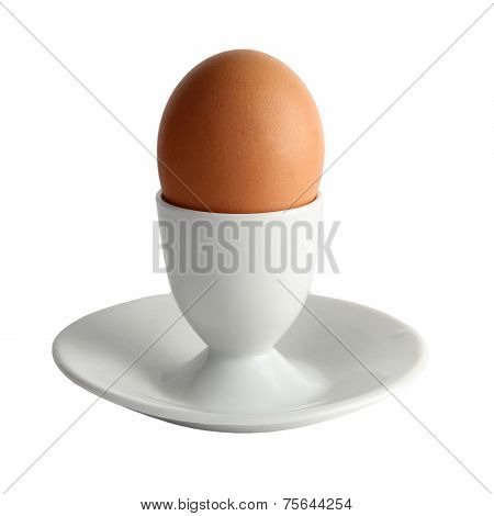 Brown Egg On A Stand