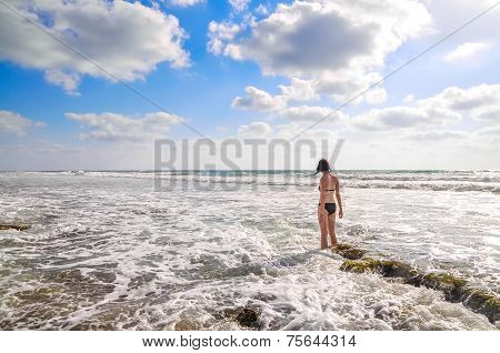 Woman In The Sea