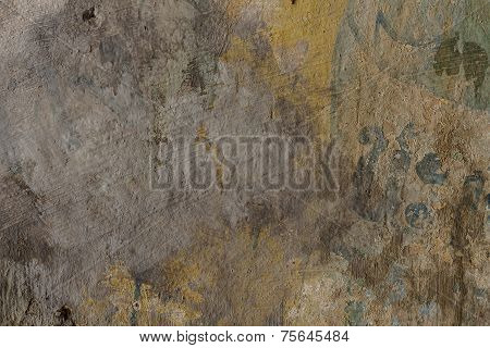 Cement Plaster - Structure Of Coloured Cement Plaster, Background.