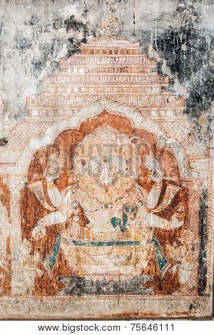Oriyan Style Narasimha Mural.