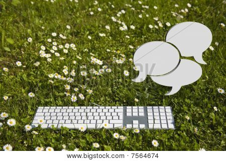Chat Clouds And Keyboard