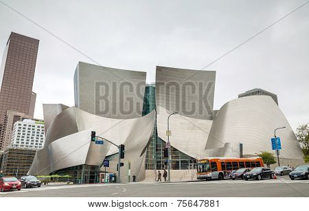 The Walt Disney Concert Hall In Los Angeles, Ca
