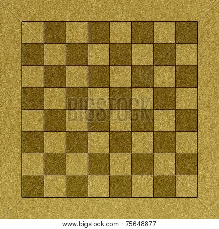 Checkerboard In Golden Paper