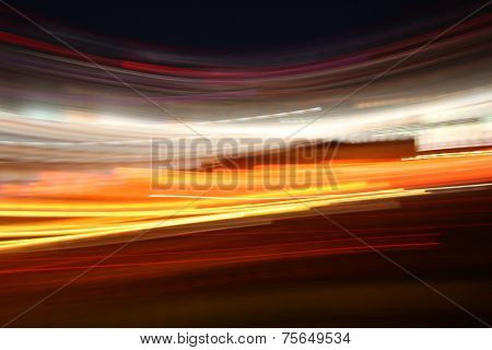 Abstract Neon Lights In Motion