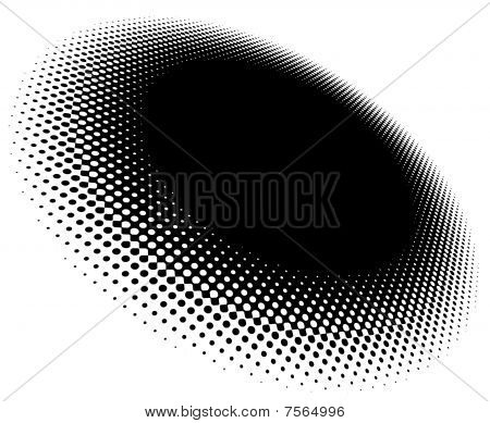 Halftone Pattern With Perspective