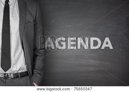 Agenda on blackboard