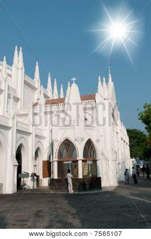 San Thome Basilica Cathedral / Church In Chennai (madras), Southern India