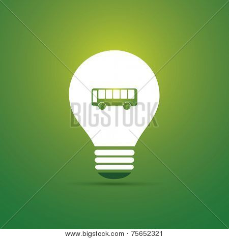 Green Eco Energy Concept Icon - Electric Bus - Public Transportation