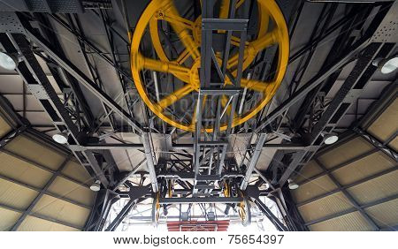 Yellow Wheels Of Cableway