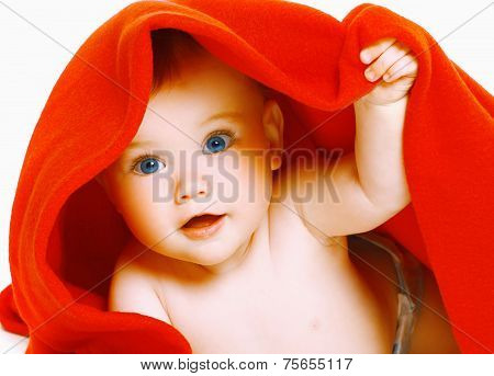Cute Baby And Towel