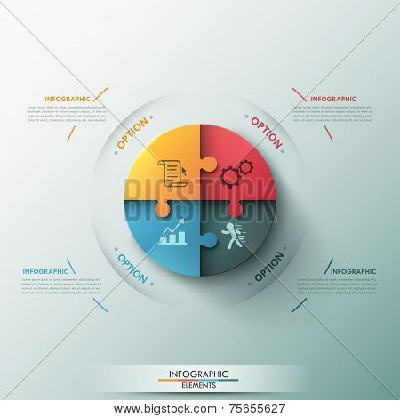 Modern infographic options banner.