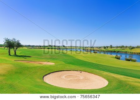 Golf Resort With The Scenery Of The Sea. Summer Vacation.