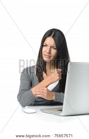 Young Businesswoman Massaging Her Forearm
