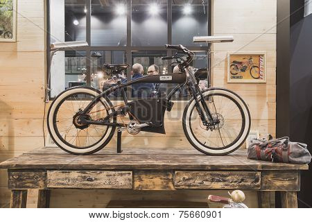 Bicycle On Display At Eicma 2014 In Milan, Italy