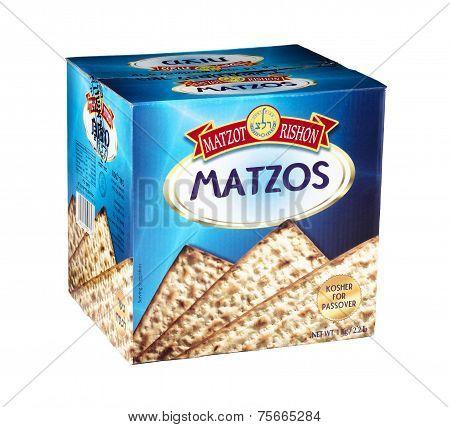 Cardboard Box Of Matzot Rishon Matzos