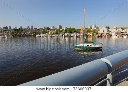 False Creek Float Homes and Sailboat