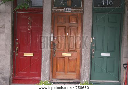 3 Farbe Türen