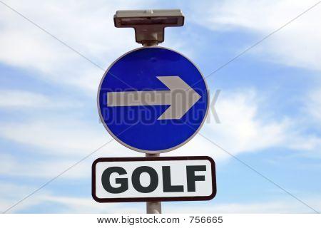 Conceptual golf sign