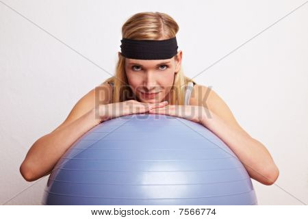 Relaxation On A Gym Ball