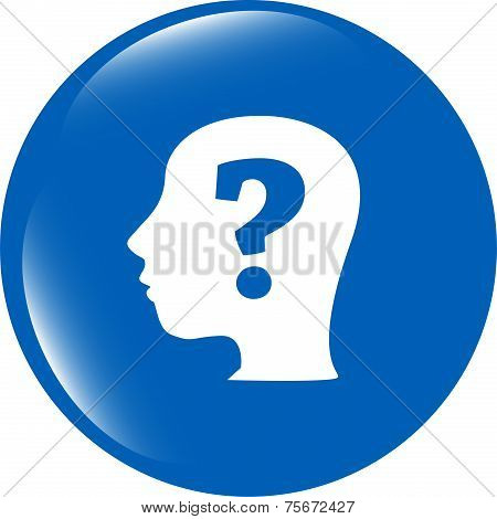 Human Head With Question Mark Symbol, Web Icon