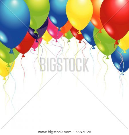 Balloons flying up in the air