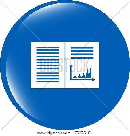 Text File Sign Icon. Add File Document With Chart Symbol. Accounting Symbol