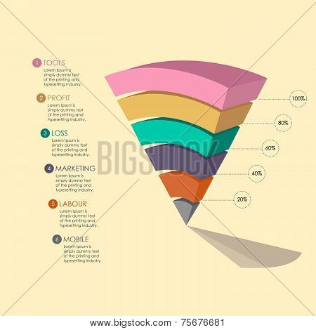 Pyramid Chart For Your Business Presentation