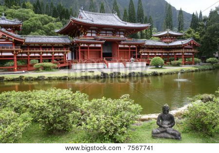 Japanese Pagoda style Temple Hawaii