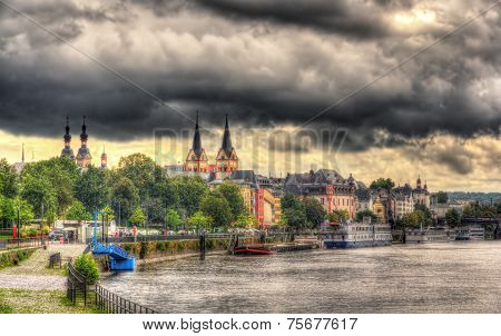 View Of Koblenz's Embankment - Germany