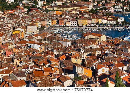 Aerial View From Rovinj Belfry, Croatia