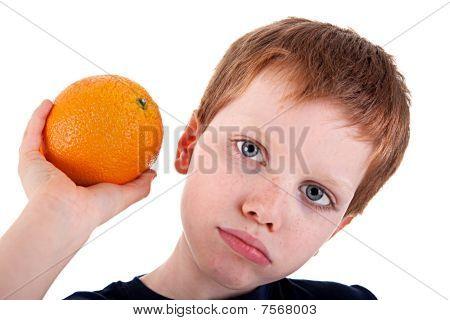 Boy With A Orange