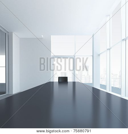 Conference table with one chair