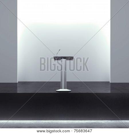 tribune in modern interior