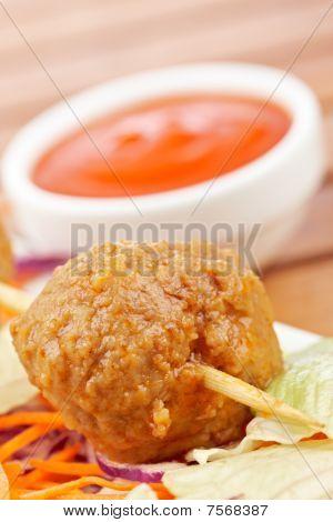 Meatballs Skewer