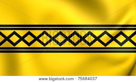 Flag Of West Midlands, England.