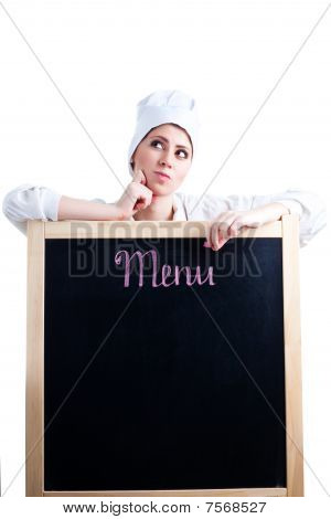 Chef Thinking About Menu