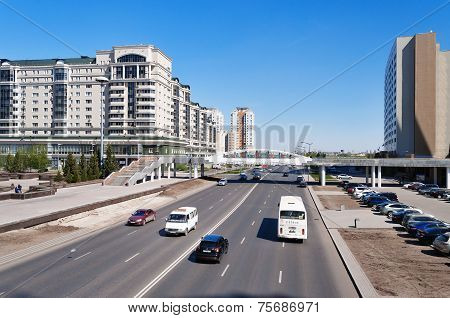On The Street In Astana