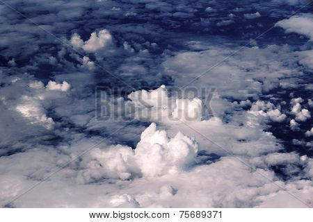 Clouds, Blue, Background