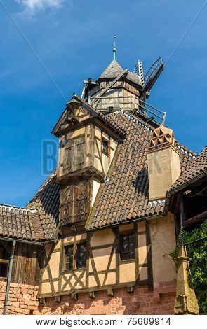 Windmill In Haut-koenigsbourg Castle - Alsace, France