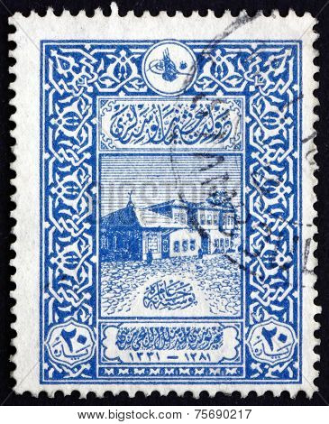 Postage Stamp Turkey 1916 Old General Post Office, Constantinopl